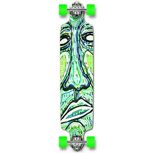 Yocaher Punked Countdown Longboard Complete Skateboard - - Available in All Shapes (Drop Down)