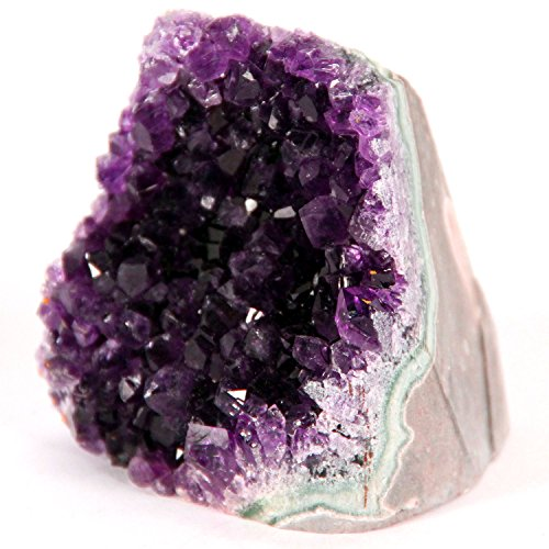 Best Amethyst Cluster –This Super-Sized Cluster is 3 to 4 pounds of Powerful Purple Amethyst Crystals which Grew on a Base of Volcanic Rock in Uruguay Called Basalt. It Features a Cut-Base.