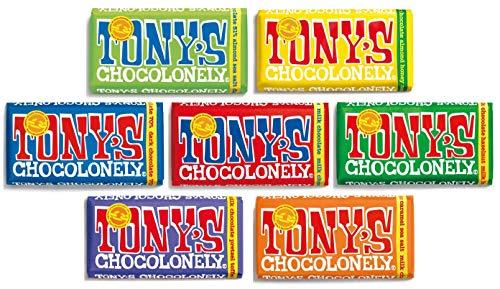 Tony's Chocolonely Chocolate 7 x 180g Bars Mixed Case