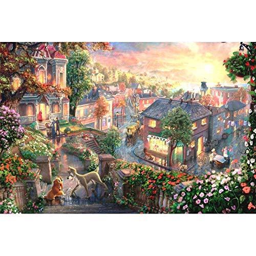 OT-706 DoDoUp 1000 Pezzi Jigsaw Puzzle Cartoon Town Giocattoli Giochi Divertenti Decorazioni in Legno per Bambini Giocattoli educativi per Bambini e Adulti