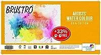 Brustro Artists 水彩用紙 200GSM A3サイズ 25% コットンCPP 5 + 1枚無料シート (2パック)