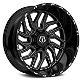 TIS 544BM BLACK Wheel with Gloss CNC Milled Accents (0 x 12. inches /5 x 139 mm, -44 mm Offset)