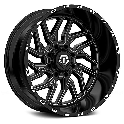 TIS 544BM BLACK Wheel with Gloss CNC Milled Accents (0 x 12. inches /6 x 135 mm, -44 mm Offset)