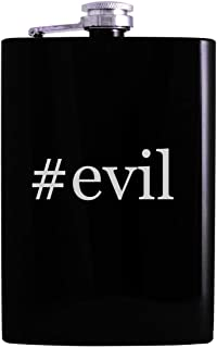 #evil - 8oz Hashtag Hip Alcohol Drinking Flask, Black