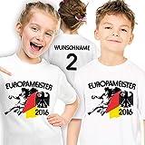 Shirtmacher Allemagne Enfants Handball Meister T-Shirt personnalisé avec Dos eigener numéro et nom au Choix