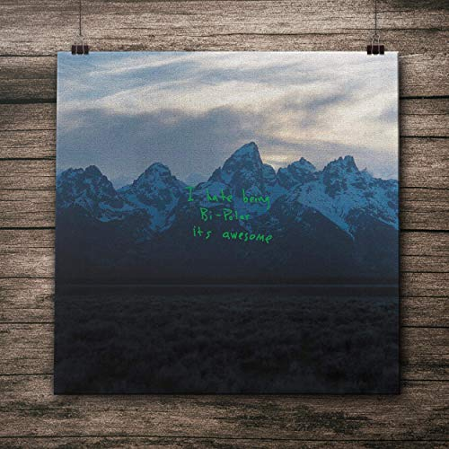 CANVAS poster Ye - Kanye West Wall Art 100% Cotton Fabric Print Gift Idea