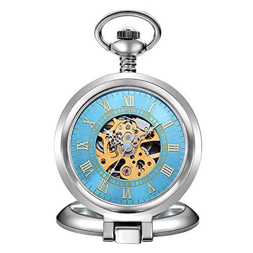 YUNDING Reloj De Bolsillo Estilo Steampunk, Accesorios Vintage, Mecanismo De Relojería, Movimiento...