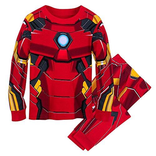 Marvel Iron Man Costume PJ PALS for Kids Size 8 Multi