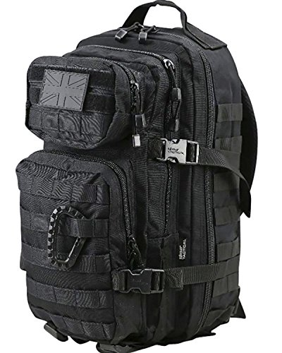 Kombat British Army Day Pack Sack Combat Rucksack Bergen Molle Black New 28 Litre L