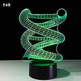 Siete Colores Atmósfera 3D Luz Decoración Del Hogar Táctil Detección Dormitorio Luz Nocturna