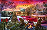 Rompecabezas de camping de Nochebuena, 1000 piezas