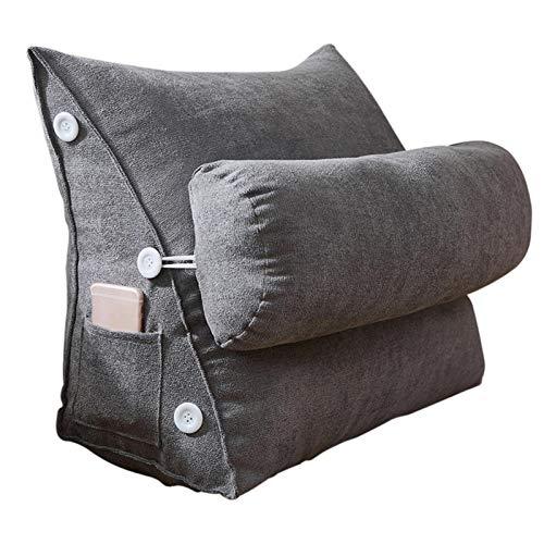 courti Kopfkissen Nackenstützkissen Stützkissen Dekokissen Lesekissen Rückenkissen für Lesen Couch Sofa Nackenrolle tv Kissen 45x25x50cm