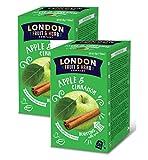 London Fruit & Herb Company Infusión de manzana y canela naturalmente sin cafeína - 2 x 20 bolsitas de té (80 gramos)