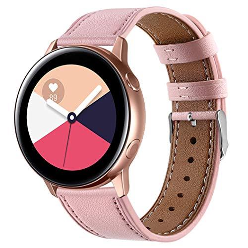 Lenlun - Correa de Piel Suave para Samsung Gear S2, Gear Sport, Garmin Vivoactive 3, Compatible con Galaxy Active de 40 mm/Galaxy Watch de 42 mm, 20 mm