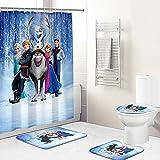 Cortina de Ducha de baño Impermeable Lavable Congelado 3D...