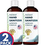 Instant Hand Sanitize Gel - Value Size Advanced Natural Hand Sanitize Cleaner Portable Aloe Vera Moisturizer 2 Pack Premium Nature Packaging May Vary
