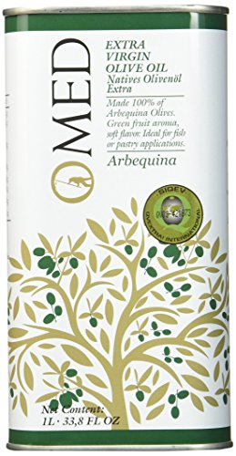 O-MED Natives Olivenöl Arbequina Kanister, 1er Pack (1 x 1000 ml)