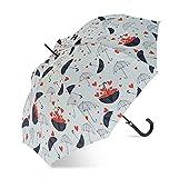Paraguas largo mujer automático devota y lomba estampado hearts (blanco)