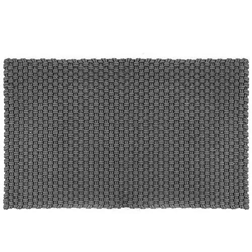 PAD - Fußmatte, Türmatte, Badematte - UNI - Farbe: Stone Grau - 100% Polypropylen -  52x72cm