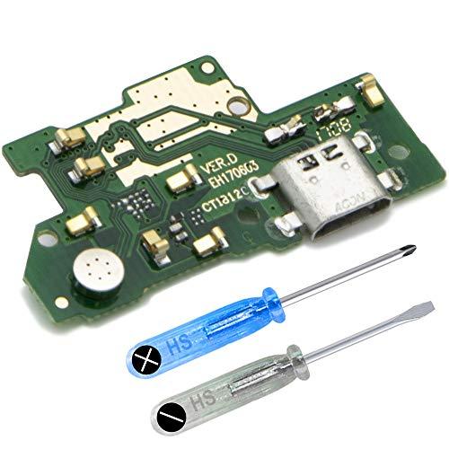 MMOBIEL Repuesto Conector Dock Carga Compatible con Huawei Y7 / Y7 Prime 5.5Plg 2017 Conex. Micrófono Altavoz instalados
