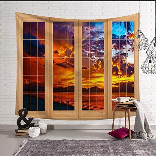 mmzki Nordic hängen Kunst Wandteppich Wandteppich Hauptdekoration Wandbild Fenster LS-CW0015 150x130