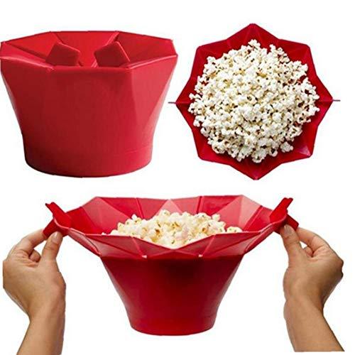AYRSJCL Microonde Silicone Popcorn Ciotola Cucina Easy Tools Magica Domestica Popcorn Maker Contenitore Sano Strumenti di Cottura