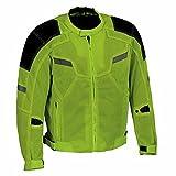 Milwaukee Leather MPM1792 Men's High Vis Armored Textile Jacket - Large