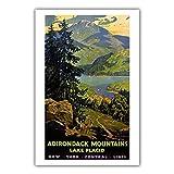 CBYLDDD Estados Unidos Estados Unidos Parques estadounidenses Yosemite Airways HolidayLans Newyork Vintage Travel Poster 16x24in Sin Marco