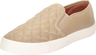 Cambridge Select Women's Quilted Round Toe White Sole Slip-On Flatform Fashion Sneaker
