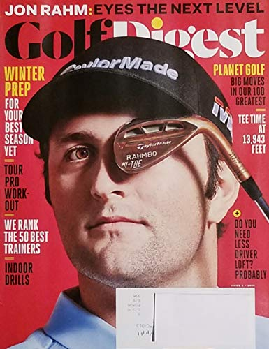 Golf Digest Volume 71 Issue 1 2020 John Rahm: Eyes the Next Level World's 100 Greatest Courses Golf in Nepal 50 Best Trainers