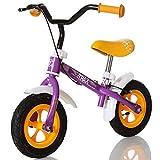 LCP Kids Kinder Laufrad Trax ab 2 Jahren mit Bremse und Ergonomischer Sattel bis 20 kg, Violett