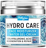 Water Gel Cream - Water Based Face Moisturizer Collagen Cream - Made in USA - Hyaluronic Acid Face Hydrating Moisturizer - Regeneration & Wrinkle Repair Cream for Moisture Boost - 1.7 fl oz