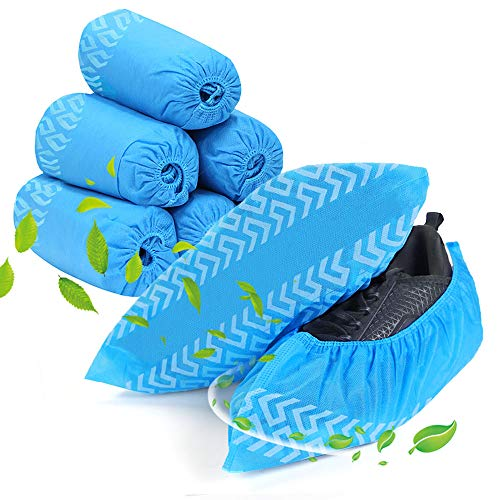 Shoe Covers Disposable Non Slip, squish 60 Pack (30 Pairs) Non Woven Fabric Boot Covers for Indoors Breathable Slip Resistant Durable Boot&Shoes Cover, One Size Fits All
