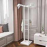 Percheros Sombrero Solid Wood Coat Rack Libre Dormitorio Dormitorio Almacenamiento Moderno Europeo Moderno Soporte simple de abrigo con base cuadrada sólida y 10 ganchos para ropa Bufandas de bufandas