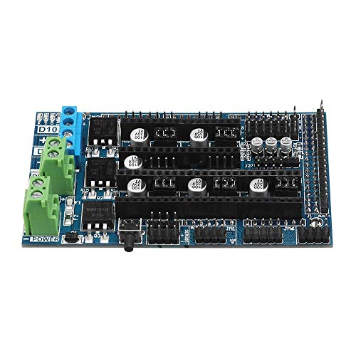 Componentes de impresión en 3D Mega2560 R3 + LCD Display + 12864 Actualiza Rampas 1.6 Base en Ramps1.5 Control de Placa Base Kit con 5 x A4988 controlador for la impresora 3D Reprap, duradero