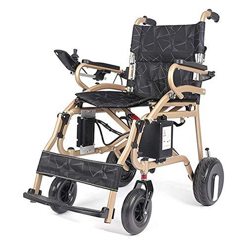 Y&QD 2019 Elektrorollstuhl für Erwachsene Silla de Ruedas Electrica für Erwachsene Li-Ionen-Akku mit Zwei Motoren Leichter zusammenklappbarer motorisierter Rollstuhl,12ah