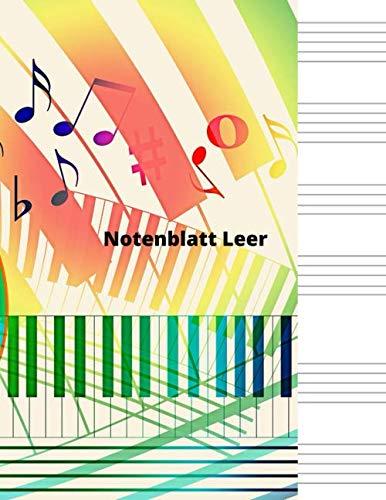 Notenblatt Leer: Leeres Notenblatt Papier, Notenblatt Leer Klavier, Leere Notenzeilen, leeres notenpapier, Klavier leeres Blatt