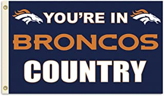 Fremont Die Inc NFL Sports League Denver Broncos Country 3 Ft. X 5 Ft. Polyester Flag With Grommetts