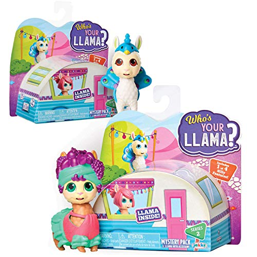 Who's Your Llama Surprise Figures! Series #2 – 12 Different Collectible Figures Available! Includes 2 Mystery Pack for A Total of 2 Toy Llama Figurines [Amazon Exclusive 2 Pack]