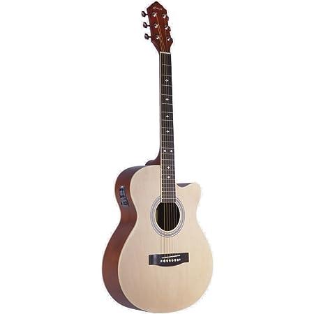 Hertz Hza 4000 6 String Semi Acoustic Guitar Natural Amazon In Electronics