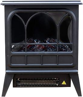 DENGSH Continental Chimenea Eléctrica Calefactor Eléctrico,la Energía Caliente Velocidad Calentadores,de la Familia Oficina Dormitorio Sencillo/Negro / 35×22×42cm