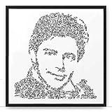Gérard Philipe - sa biographie en portrait | poster du celebre acteur de l'aprés guerre fanfan la tulipe | cadeau illustration noir et blanc fanfan la tulipe