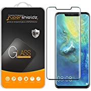 Supershieldz [2-Pack] for Huawei (Mate 20 Pro) Tempered Glass Screen Protector, [Full Cover][3D Curved Glass] Anti-Scratch, Bubble Free, Lifetime Replacement (Black)