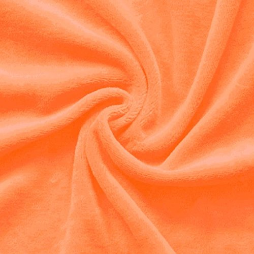 NickSTOFFKONTOR Nicki Baumwollstoff Stoff - kuschelweicher Wohlfühlstoff, Kinderstoff - Meterware, orange - zum Nähen von Kinderkleidung, Hausanzügen, Kissen