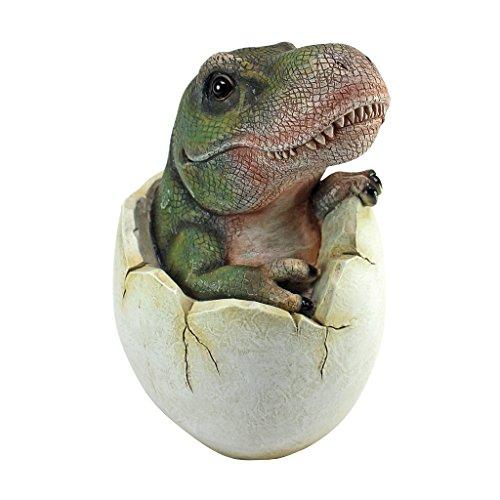Design Toscano QM2728000 Baby Tyrannosaurus Rex Dino Egg Statue,Full Color