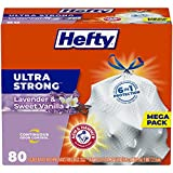 Hefty Ultra Strong Tall Kitchen Trash Bags, Lavender & Sweet Vanilla Scent, 13 Gallon, 80 Count (Packaging May Vary)