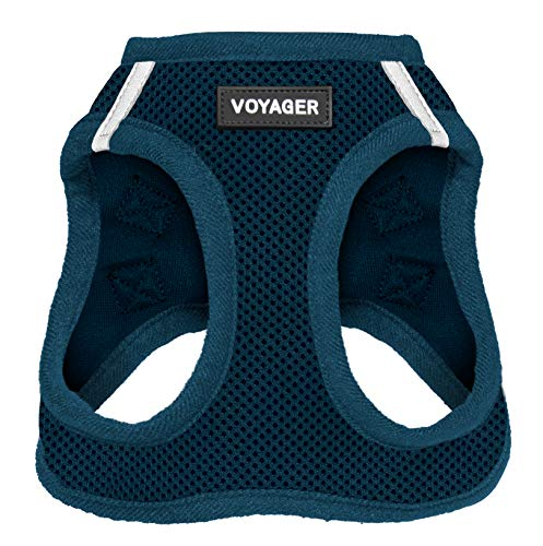 "Voyager Step-in Air Dog Harness - All Weather Mesh, Step in Vest Harness for Small and Medium Dogs by Best Pet Supplies, Blue (Matching Trim), S (Chest: 14.5-17"") (207-BUW-S)"
