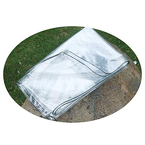 KAISIMYS Lona Transparente Lona Transparente Impermeable de Alta Resistencia con Ojales, Lona Transparente de Vidrio Transparente de PVC, Cubierta de Dosel para Plantas de Patio Exterior a Prueba de