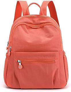 حقائب الظهر Hanyuemin للنساء حقائب مدرسية متعددة الوظائف حقائب الأعمال للنساء حقيبة الظهر الكمبيوتر المحمول (اللون: برتقالي)