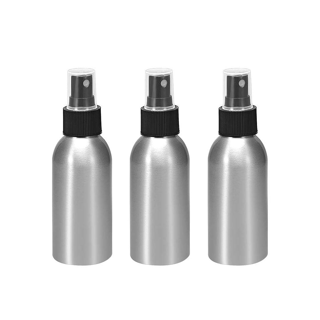 トレイ個性魅力的であることへのアピールuxcell uxcell アルミスプレーボトル ブラックファインミストスプレー付き 空の詰め替え式コンテナ トラベルボトル 1.7oz/50ml 3個入り